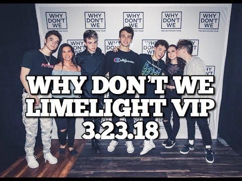 WHY DON'T WE INVITATION TOUR LIMELIGHT VLOG 3.23.18 PHOENIX, AZ