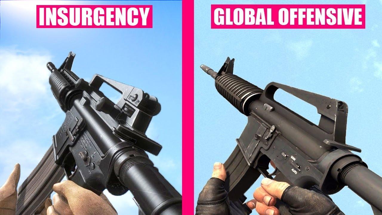 Counter-Strike Global Offensive Gun Sounds vs Insurgency