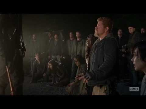 Walking Dead Negan Kills Glen and Abraham Scene - Glen And Abraham Deaths Scene