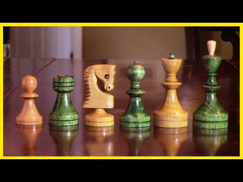 Wood Turn A Russian Chess Set