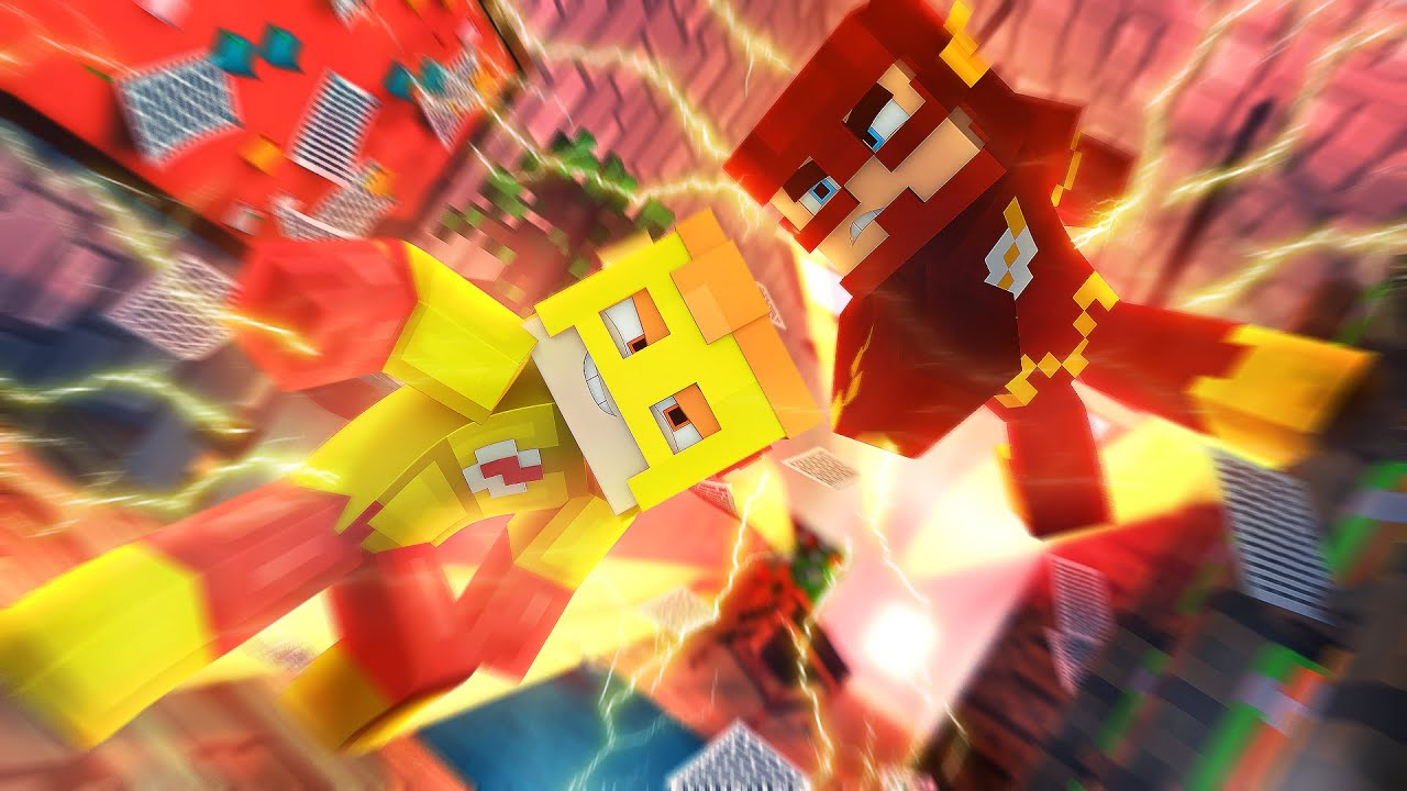 how to build kid flash in minecraft