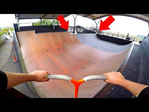AWESOME HALFPIPE RAMP PRO SCOOTER TRICKS!!
