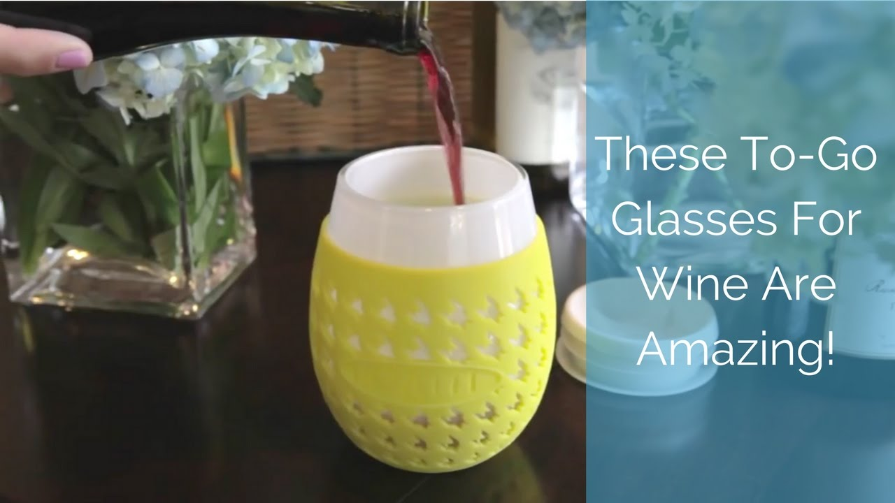 These to go glasses for wine are amazing youtube Wine glasses to go