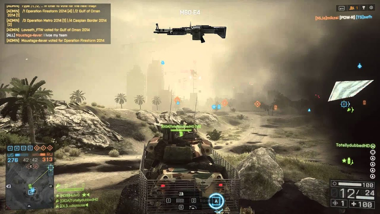 How to unlock the M60-E4 in Battlefield 4 - Dust Devil Assignment - By  Totallydubbed