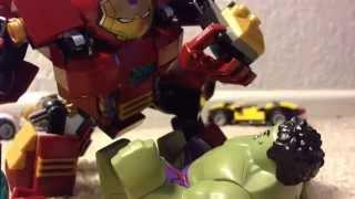 Avengers age of ultron lego hulkbuster vs hulk stop motion recreation part 2
