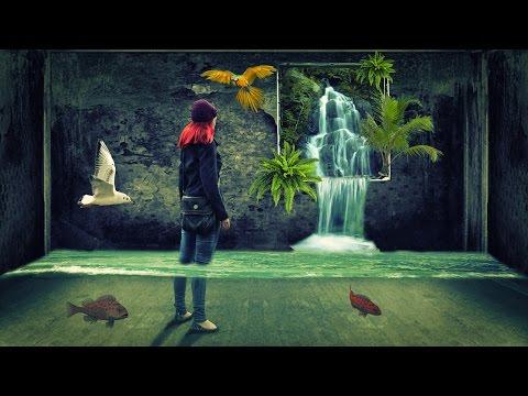 3d fantasy waterfall photo manipulation | photoshop tutorial