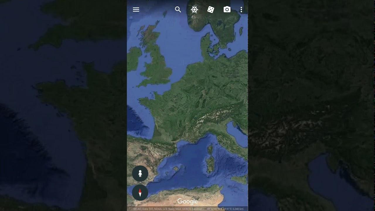 Eiffel Tower Satellite View YouTube - World map satellite view video