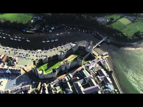 Caernarfon Castle Aerial