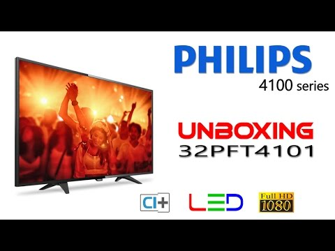 unboxing LED TV Philips 32PFT4101 affordable Full HD