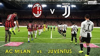 PES 2019 | AC MILAN vs JUVENTUS FC | C.RONALDO double & Amazing Goals | Gameplay PC