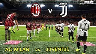 Pes 2019 | Ac Milan Vs Juventus Fc | C.ronaldo Double & Amazing Goals | Gameplay Pc