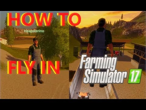 How To Fly In Farming Simulator 17 | Tutorial | [Commentary]