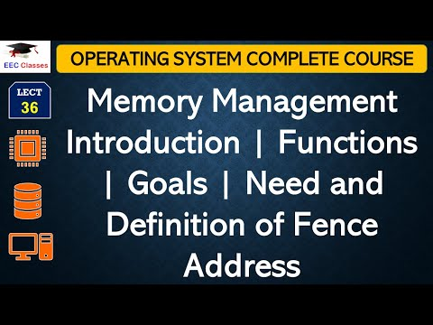 Memory Management Introduction | Functions | Goals | Need and Definition of Fence Address
