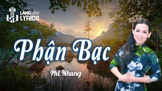 Phận Bạc | Phi Nhung | Official MV | Karaoke