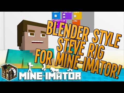 Blender / C4D Style Steve Rig For Mine-imator + Download!