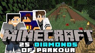 Minecraft: 25 Diamonds Of Parkour - Skórka z Ogórka i Chrrupiący ASMR [7/x] w/ GamerSpace, Tomek90
