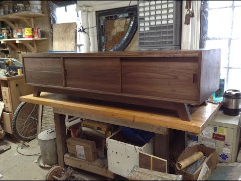 Woodworking: Mid-Century Modern TV Stand + Storage // How-To Part 1