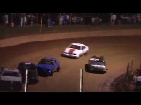 Racing move of the night!  Winder Barrow Speedway 5/23/15