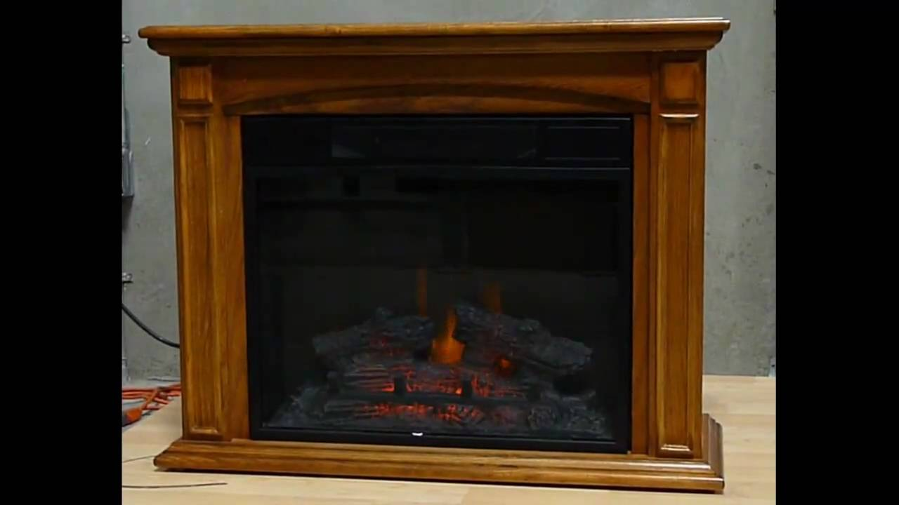 Twin Star Electric Fireplace I - YouTube