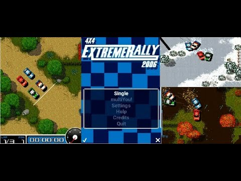 4x4 Extreme Rally 2006 ALL STAGES Java Bluetooh Game For Sony Ericsson