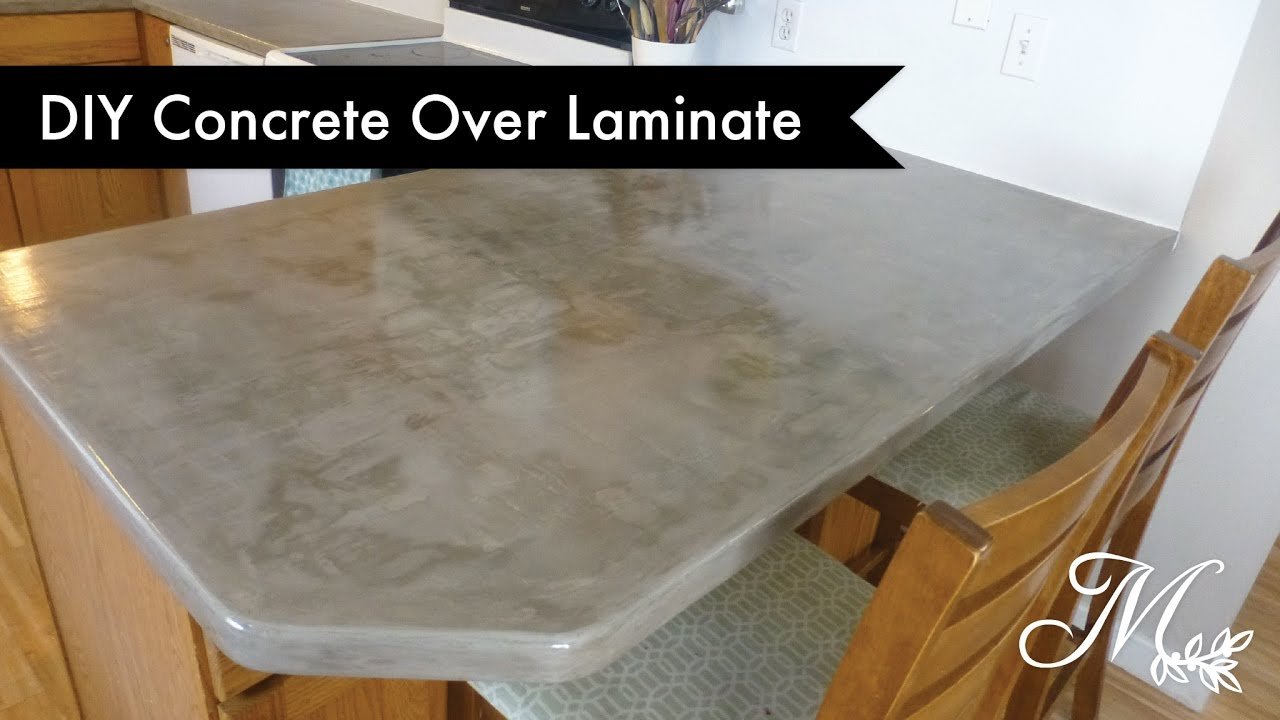 Diy Concrete Over Laminate Countertops Using Feather Finish Youtube