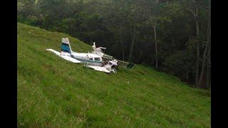 Accidente de avioneta en Lebrija, Santander