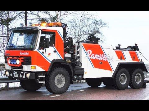 Volvo FH10 6x6 Heavy Recovery Truck vs. DAF Semitrailer - Ramströms - Sweden 4K
