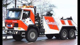 Volvo FL10 6x6 Heavy Recovery Truck vs. DAF Semitrailer - Ramströms - Sweden 4K
