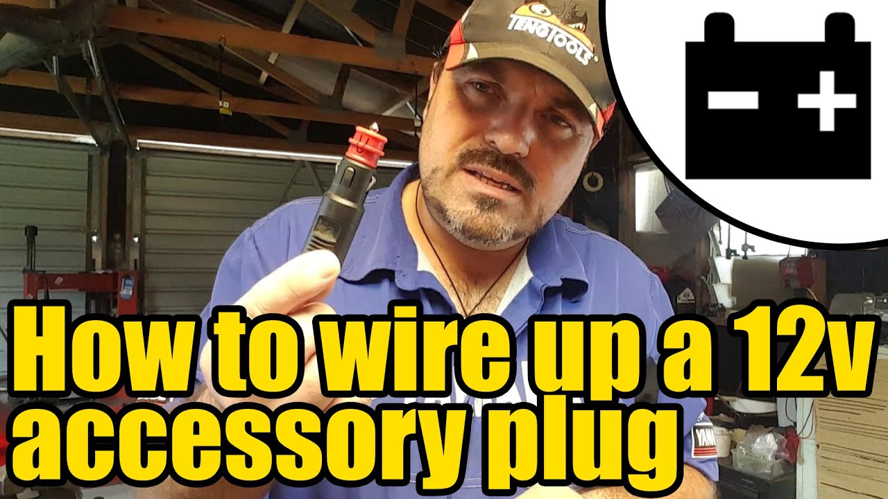 12v wiring diagram for boats chevy sonic radio how to wire up a accessory plug 1953 youtube