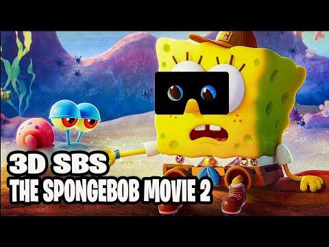 3D VR Video SBS THE SPONGEBOB MOVIE 2 - Sponge on the Run【VR Box, Google Cardboard】