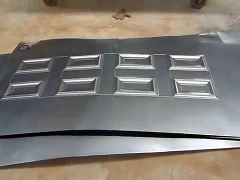 Prensa hidraulica para placa metal de puerta de - Planchas de metal ...