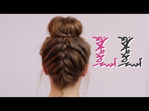 How To: Back French Plait With Bun