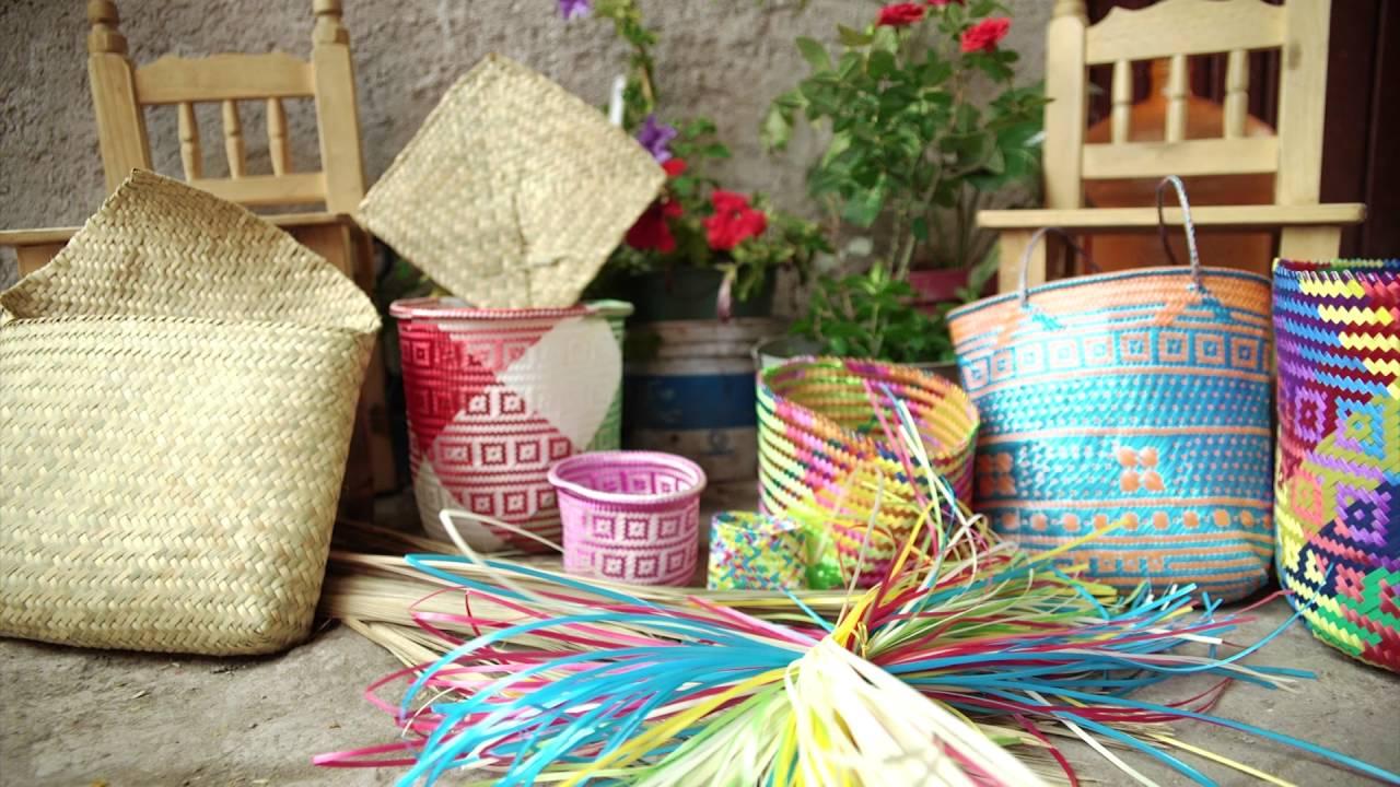 Rosa, Oaxaca: Tenates, bolsas y cestería