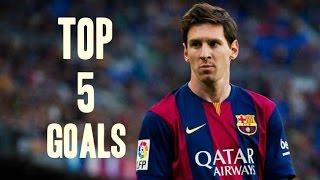 Lionel Messi ● Top 5 Best Goals ever in his Career | HD