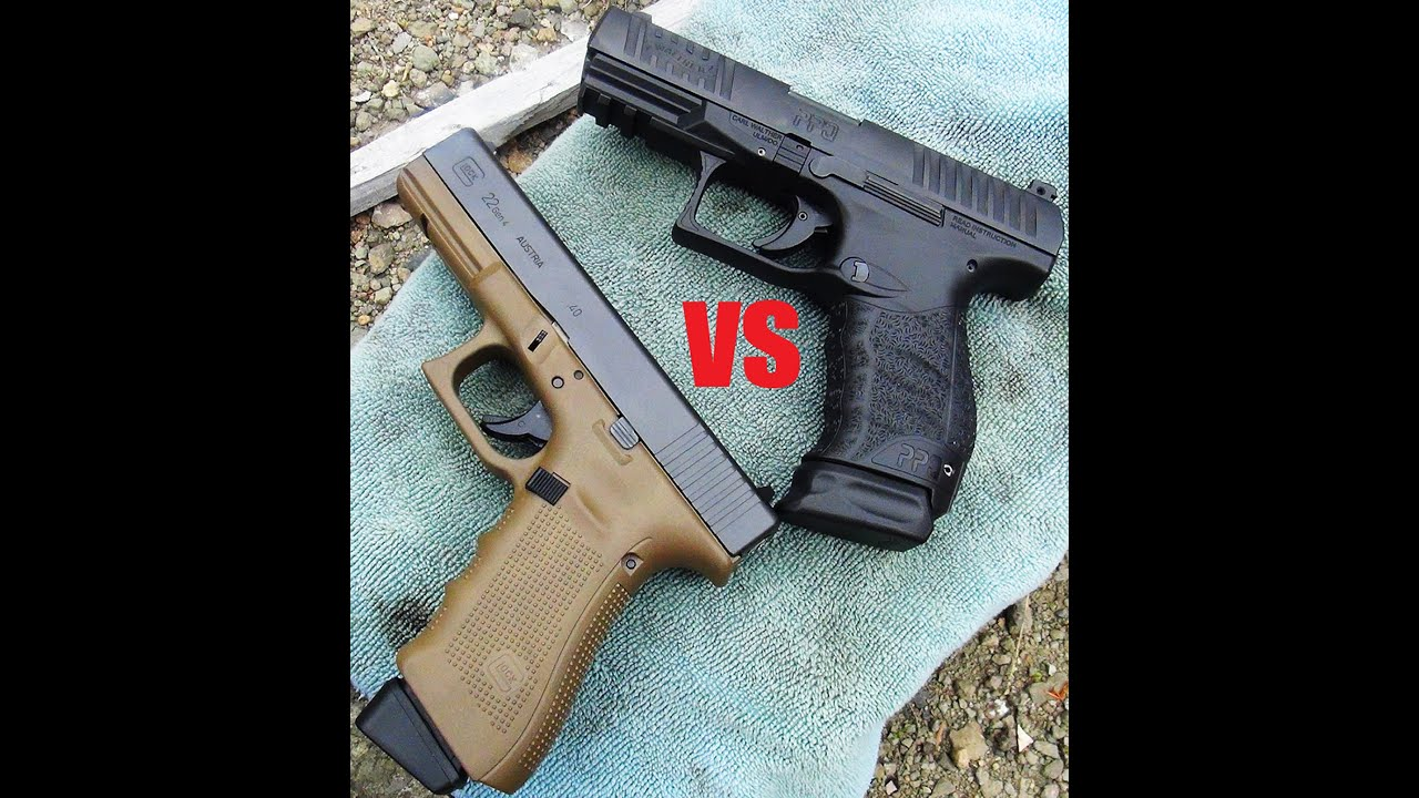 Glock 22 Gen 4 vs Walther PPQ M2 .40 S&W (HD)