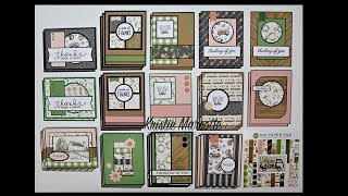Carta Bella's Spring Market - 34 cards from one 6x6 paper pad