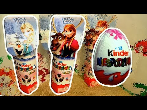 Disney Frozen Anna and Elsa Princess of Arendelle 8  Kinder Surprise Eggs
