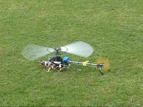 Home made helicopter gyro first tentative flights 19 04 2009 youtube - Runryder rc heli ...