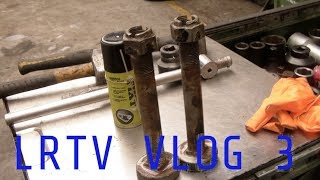 LRTV VLOG 3 - 4 year old Defender Chassis, Air/Hydraulic Bush Whacker, Raptor'd box plus Tools