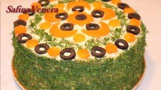 ПЕЧЁНОЧНЫЙ ТОРТ. Праздничный рецепт из говяжьей печени. Вкусный печеночный торт.