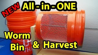 Worm Bin DIY - All in One - Easy Composting & Harvesting Casting, Part 1