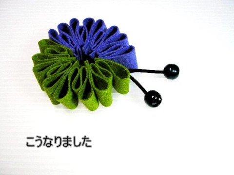 [Z's file 11-jp]フェルトのシュシュ2「プリーツ型」
