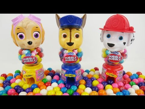 Paw Patrol Toys Gumball Machine Bank Candy Learn Colors in Best Kid Learning Video for Toddlers Baby