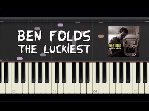 Ben Folds - The Luckiest - Piano Tutorial by Amadeus (Synthesia)