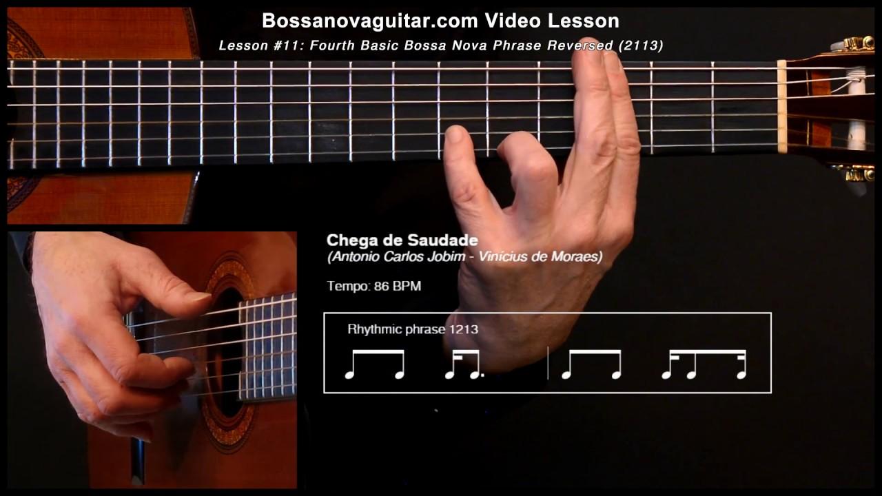 Chega de Saudade - Bossa Nova Guitar Lesson #11: Partido Alto Phrase
