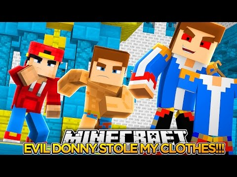 EVIL DONNY STOLE MY CLOTHES!! - Little Donny & The Minevengers Minecraft Roleplay!