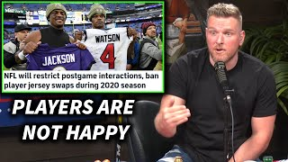 Pat McAfee Reacts To The NFL Banning Jersey Swaps