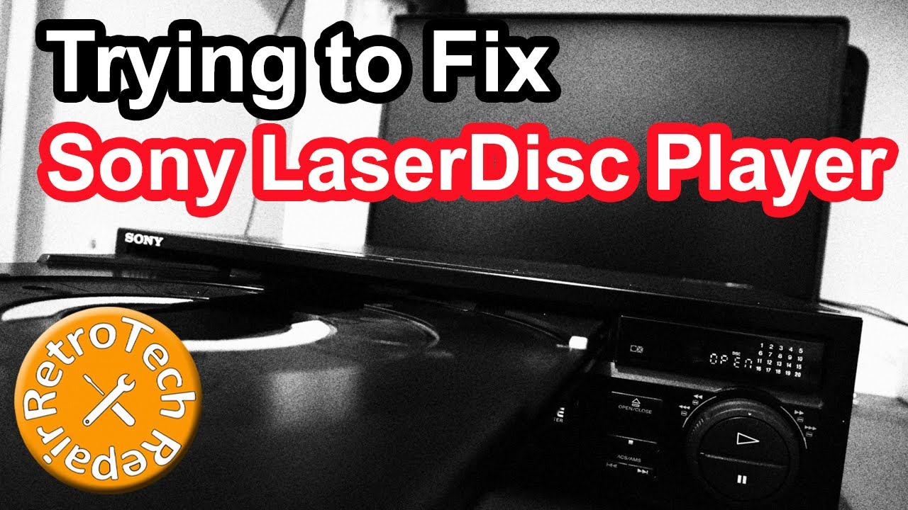 Sony LaserDisc Player Trying to Fix (MDP-650D Repair)