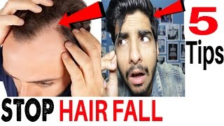 5 Tips to Stop Hair Fall | Hair growth