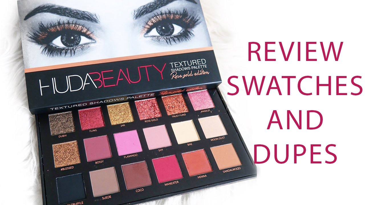 Huda Beauty Rose Gold Textured Palette Review Swatches Some
